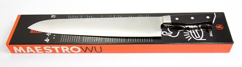 D-7 Maestro Wu 12 inch Chef Knife - Bombshell Steel