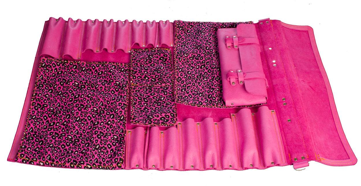 Jende Think Pink Knife Roll, Chef Knife Bag