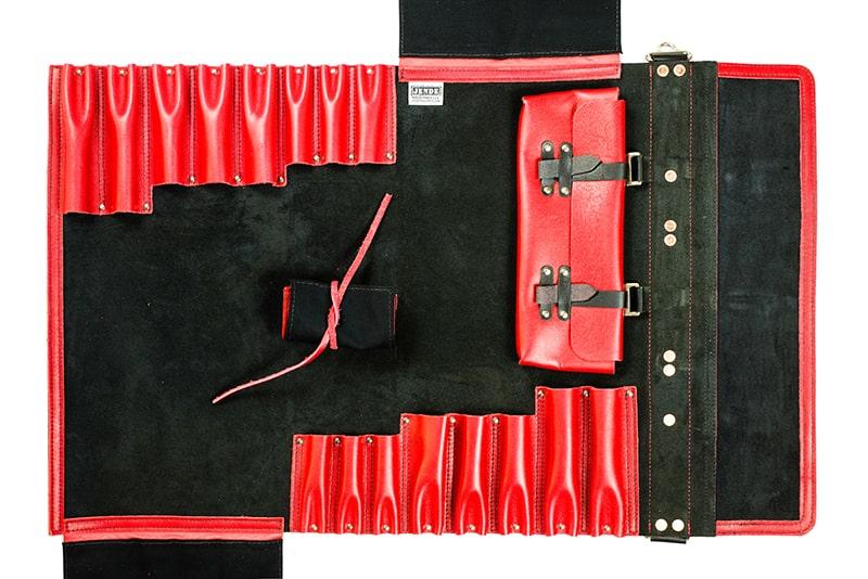 Jende Deadpool knife roll chef knife bag